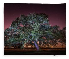 Oak Alley Signature Tree Under The Stars Fleece Blanket
