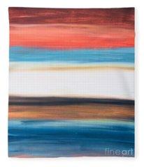 Oak Creek #29 Southwest Landscape Original Fine Art Acrylic On Canvas Fleece Blanket