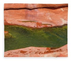 Oak Creek Red Rock Abstract Fleece Blanket