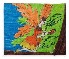 Oak Leaf Fairy Fleece Blanket