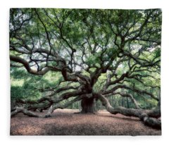 Oak Of The Angels Fleece Blanket