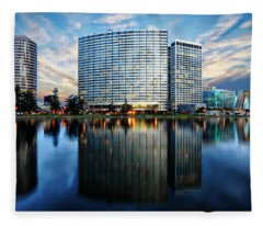 Oakland, California Cityscape Fleece Blanket