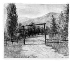 Oakley Ranch Entrance Fleece Blanket