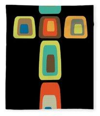 Oblong Cross Fleece Blanket
