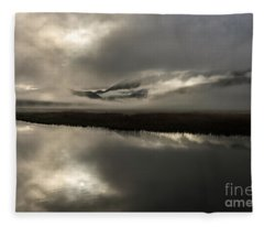 Obscured - Flat Creek, Jackson, Wy Fleece Blanket