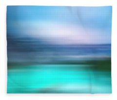 Obscurred Moraine Lake Fleece Blanket
