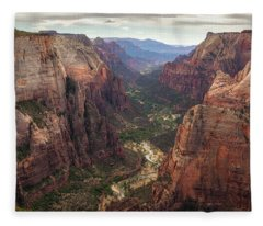 Observation Point - Zion Fleece Blanket