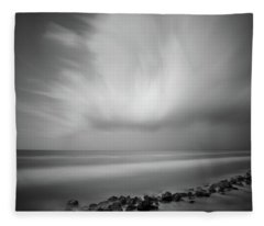 Fleece Blanket featuring the photograph Ocean And Clouds by Todd Aaron