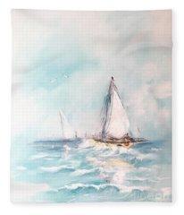 Ocean Blues Fleece Blanket