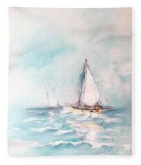 Ocean Blues Fleece Blanket
