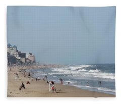 Ocean City Maryland Beach Fleece Blanket