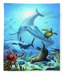 Ocean Life Fleece Blanket