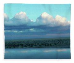 Ocean Of Sky Fleece Blanket