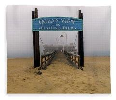 Ocean View Pier Fleece Blanket