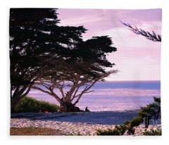 Ocean Views From Carmel Beach  Fleece Blanket