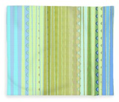 Oceana Stripes Fleece Blanket
