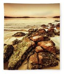 Oceanic Harmony Fleece Blanket