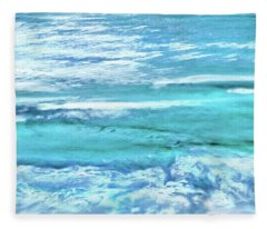 Oceans Of Teal Fleece Blanket