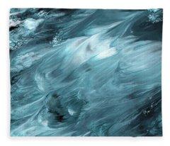 Oceanside 2- Art By Linda Woods Fleece Blanket