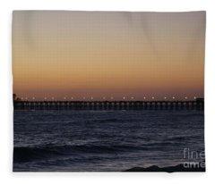 Oceanside Pier Fleece Blanket