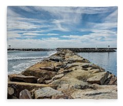 Oceanside Jetty Fleece Blanket