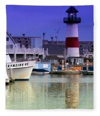 Oceanside Light Fleece Blanket