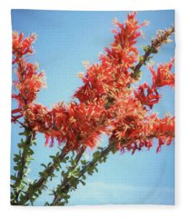 Ocotillo In Bloom Fleece Blanket