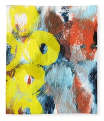 October- Abstract Art By Linda Woods Fleece Blanket