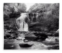 October At Bald River Falls Sepia Fleece Blanket