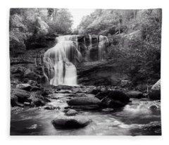October At Bald River Falls Sepia Fleece Blanket