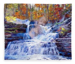October Falls Fleece Blanket