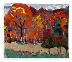 October Forest Fleece Blanket