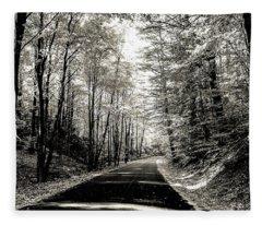October Grayscale  Fleece Blanket