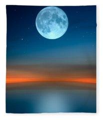 October Moon Fleece Blanket