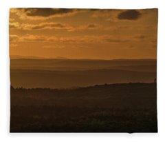 October Sunset In Acadia Fleece Blanket