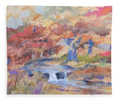 October Walk Fleece Blanket