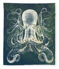 Octopus Watertown Mass Fleece Blanket
