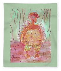 Odd Chicken Fleece Blanket