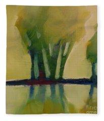Odd Little Trees Fleece Blanket