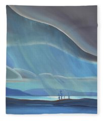 Ode To The North II - Rh Panel Fleece Blanket