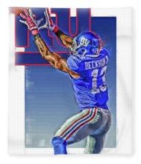 Odell Beckham Jr New York Giants Oil Art 3 Fleece Blanket