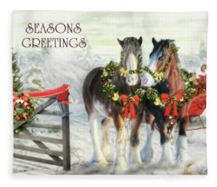 Of Christmas Past  Fleece Blanket