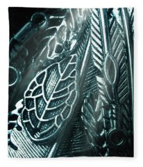 Of Leaves And Feathers Fleece Blanket