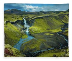 Ofaerufoss Fleece Blanket
