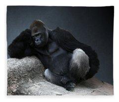Off Duty Gorilla Fleece Blanket