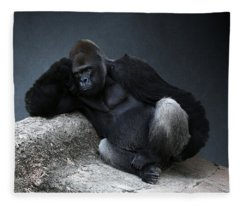 Off Duty Gorilla Fleece Blanket