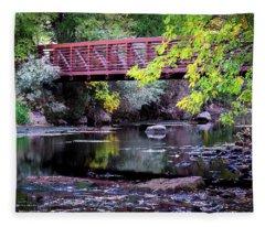 Ogden River Bridge Fleece Blanket