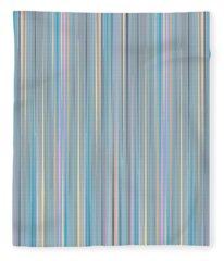Oh Baby Blue - Stripes Fleece Blanket