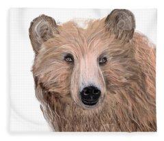 Oh Bear Fleece Blanket