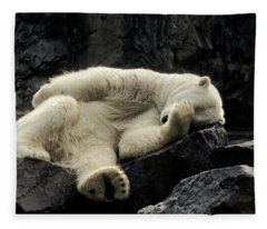 Oh What A Night Polar Bear Fleece Blanket